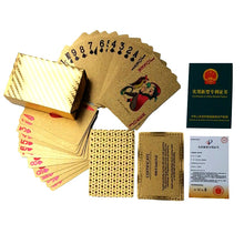 Load image into Gallery viewer, Waterproof 24K Gold Plated Playing Cards