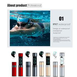 Waterproof Touch Wireless Bluetooth 5.0 Earphones