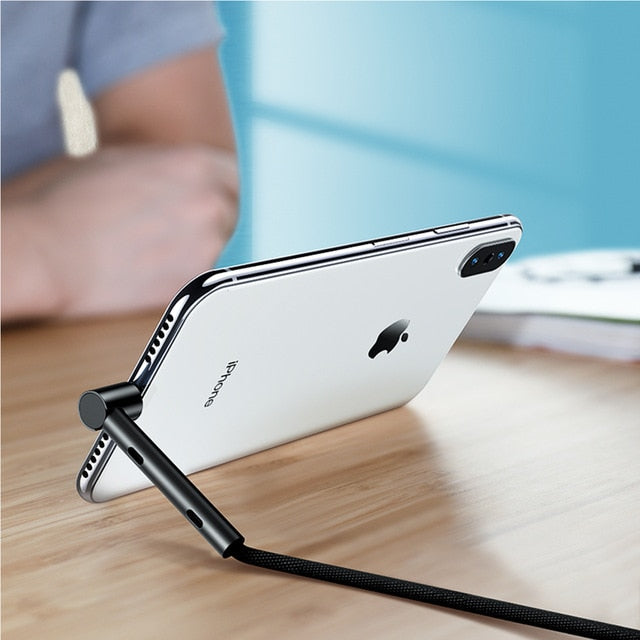 ROCK Metal Lightning Kickstand Charger for iPhone