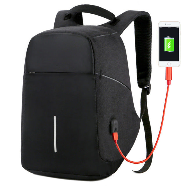 Anti-theft USB Charging Waterproof Backpack