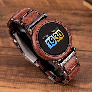 BOBO BIRD Touch Screen Electronic Wooden Watch