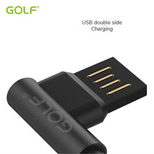 Load image into Gallery viewer, GOLF iPhone Right-Angle Double-Sided USB Fast Charger