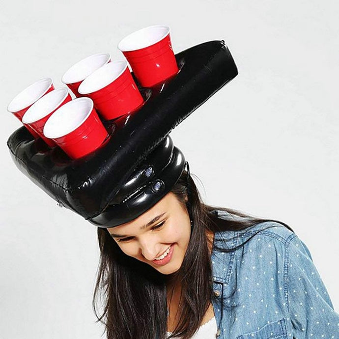 Inflatable Beer Pong Hat Game (1) Set (2) Balls