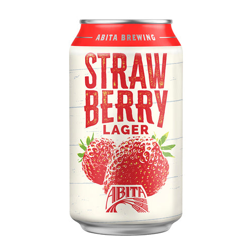 ABITA STRAWBERRY LAGER (355 ml) - AffamatiUSA