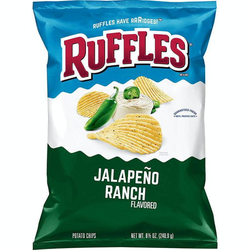 RUFFLES POTATO CHIPS JALAPENO RANCH (184 g) - AffamatiUSA