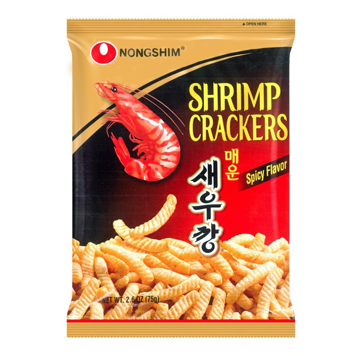 NONGSHIM SHRIMP CRACK HOT & SPICY (75 g) - AffamatiUSA