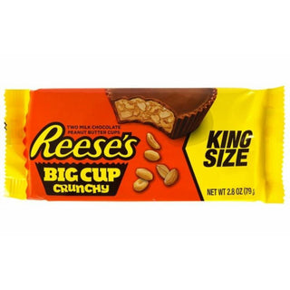 REESE'S CRUNCHY BIG CUP KING SIZE PEANUT BUTTER CUPS - AffamatiUSA
