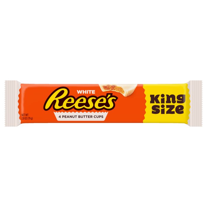 REESE'S PEANUT BUTTER WHITE CUPS KING SIZE (79 g) - AffamatiUSA