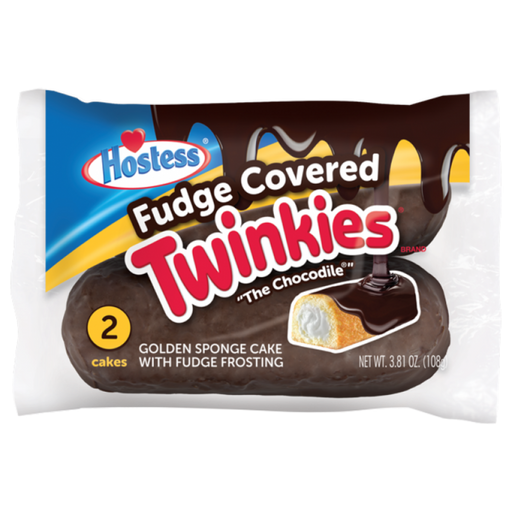 HOSTESS FUDGE COVERED TWINKIES (PACK DA 2 PEZZI) - AffamatiUSA