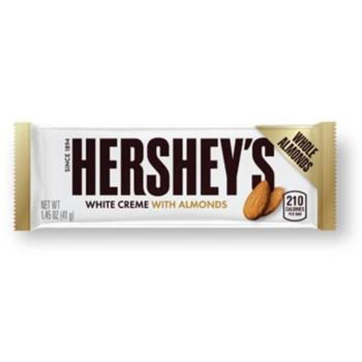 HERSHEY'S WHITE CREME & WHOLE ALMONDS BAR (41 g) - AffamatiUSA