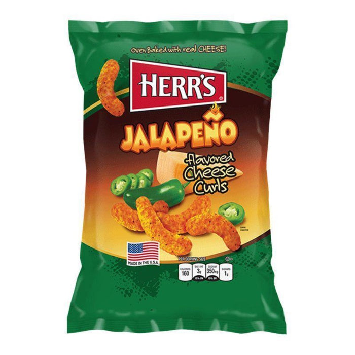 HERR'S JALAPENO POPPERS CHEESY CURLS (29 g) - AffamatiUSA