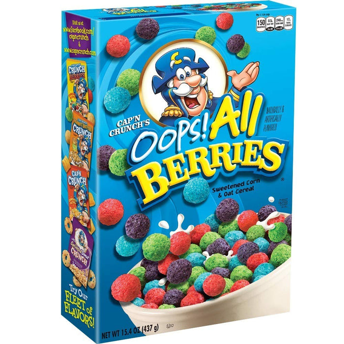 CAP'N CRUNCH CEREAL OOPS ALL BERRIES - AffamatiUSA