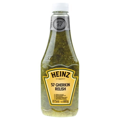 HEINZ 57 GHERKIN RELISH (875 ml) - AffamatiUSA