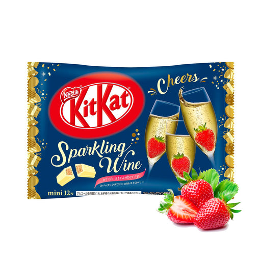 KIT KAT SPARKLING WINE WITH STRAWBERRY (Fun Size) - AffamatiUSA