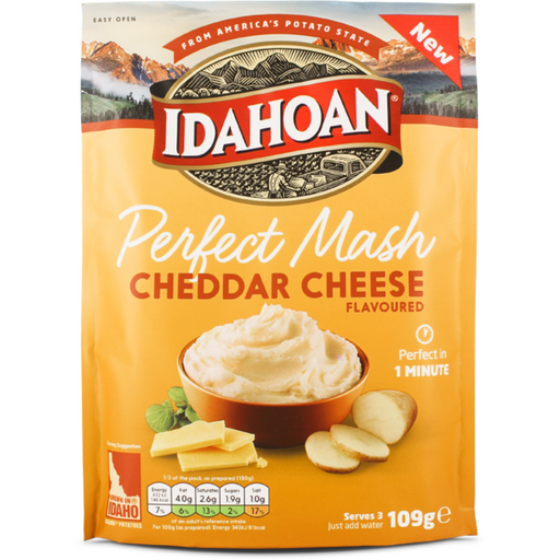 IDAHOAN PERFECT MASH CHEDDAR CHEESE (109 g) - AffamatiUSA