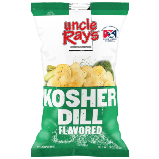 UNCLE RAY'S POTATO CHIPS KOSHER DILL (120 g) - AffamatiUSA