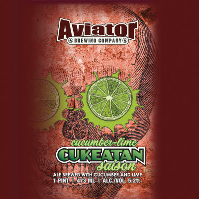 AVIATOR CUKEATAN SAISON CUCUMBER LIME (473 ml) - AffamatiUSA