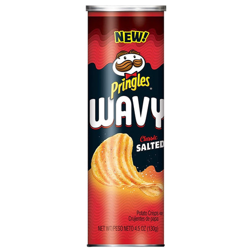 PRINGLES WAVY CLASSIC SALTED (130 g) - AffamatiUSA