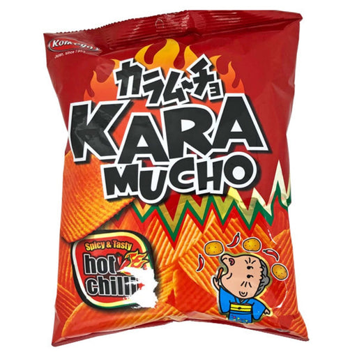 KARAMUCHO POTATO CHIPS HOT CHILLI RIDGE CUT (60 g) - AffamatiUSA