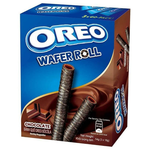 OREO CHOCOLATE WAFER ROLLS (54 g) - AffamatiUSA
