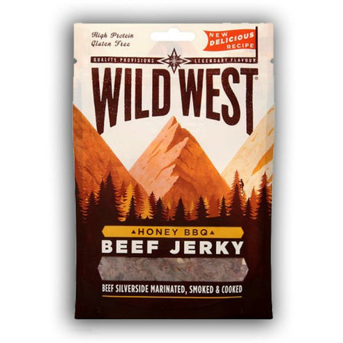 WILD WEST BEEF JERKY HONEY BBQ (25 g) - AffamatiUSA