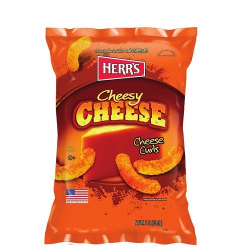 HERR'S BAKED CHEESE CURLS (28.2 g) - AffamatiUSA