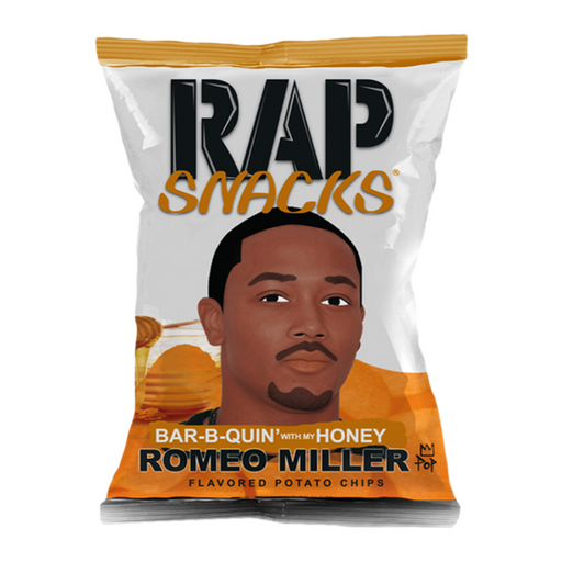 RAP SNACKS ROMEO MILLER BAR-B-QUIN' WITH MY HONEY CHIPS (78 g) - AffamatiUSA