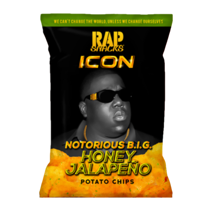 RAP SNACKS ICON NOTORIOUS HONEY JALAPEÑO CHIPS (70 g) - AffamatiUSA