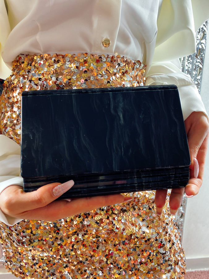 Bag in plexi black - R.a. Boutique