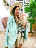 Blazer in ecopelle Tiffany