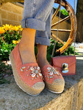 Espadrillas Rosa estive con conchiglie