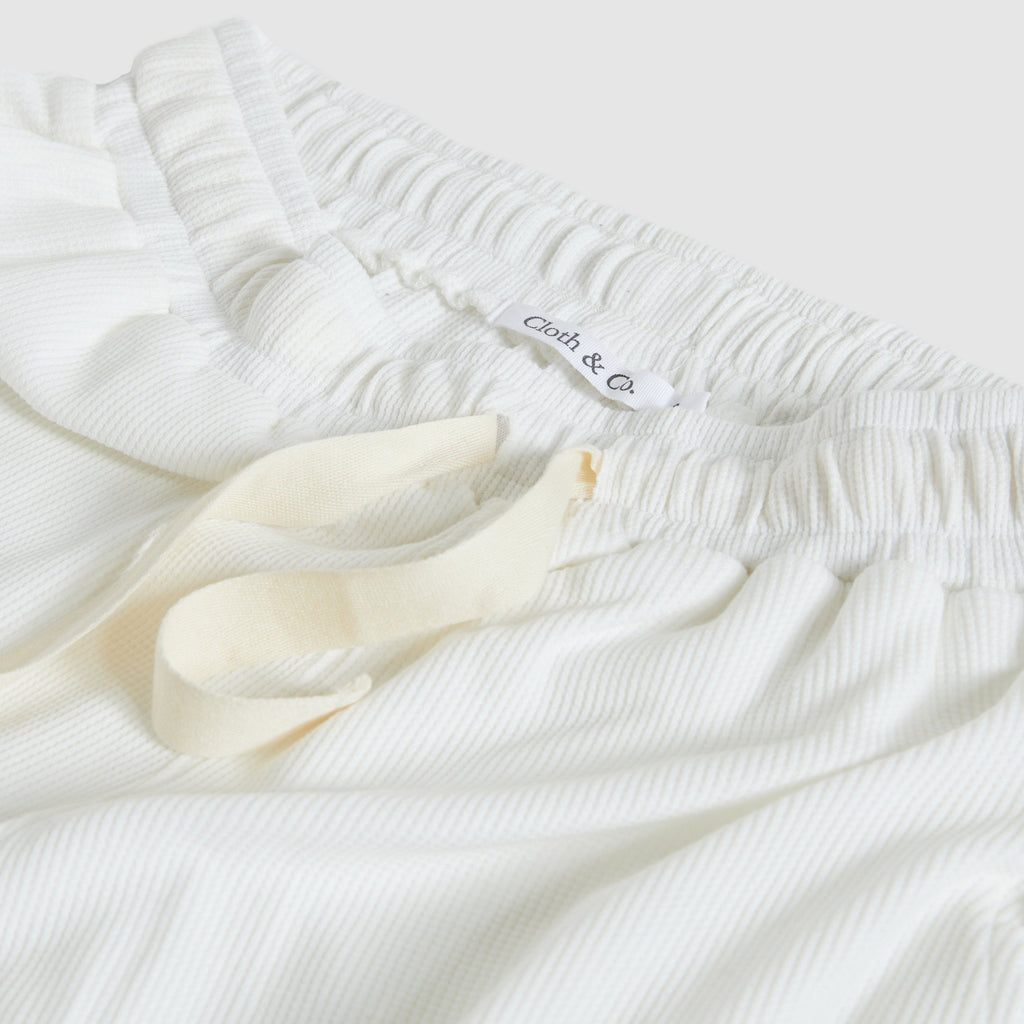Waffle Track Pants in Gardenia by Cloth & Co.