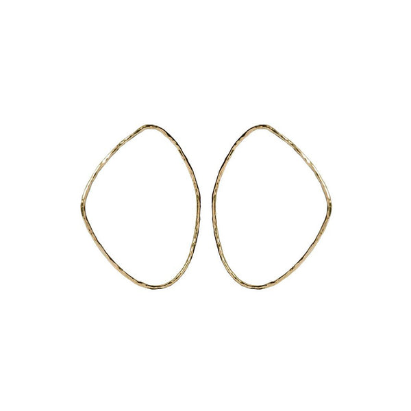 SOKO X Reformation: Hammered Maxi Sabi Outline Earrings