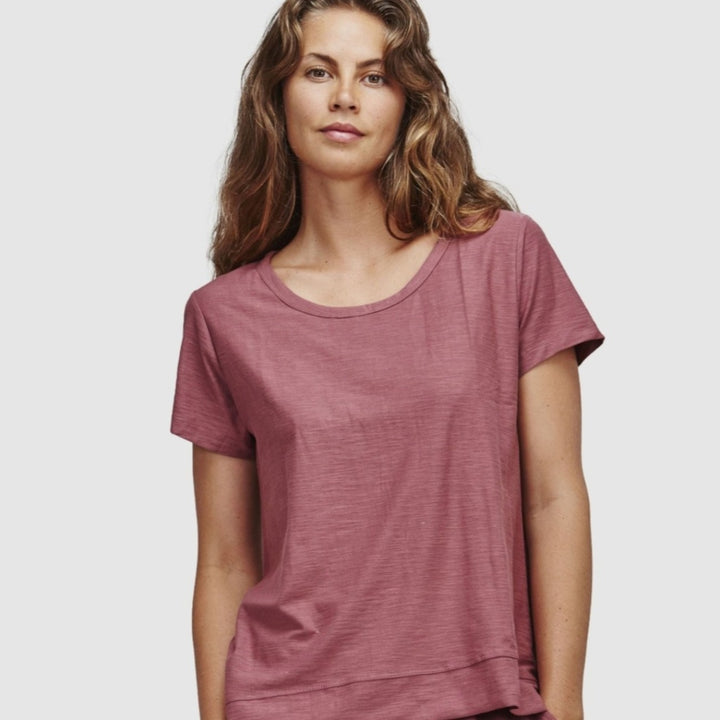 Marsala GOTS Cotton Tee by Cloth & Co