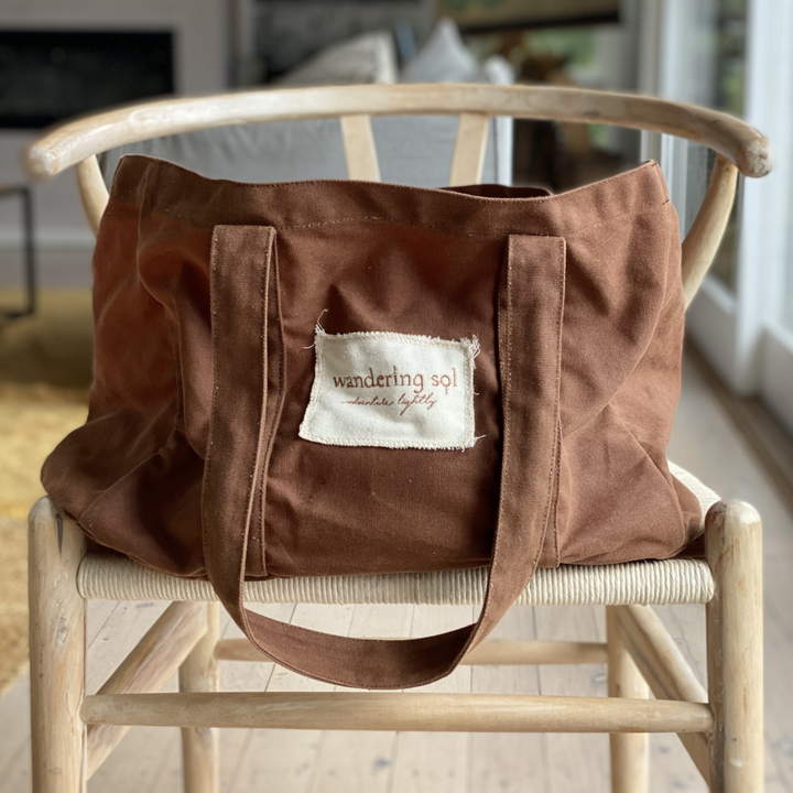 Wandering Sol THE GRANDE Waxed Canvas Bag