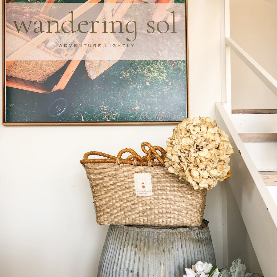 The Sol Shopper Seagrass Basket by Wandering Sol
