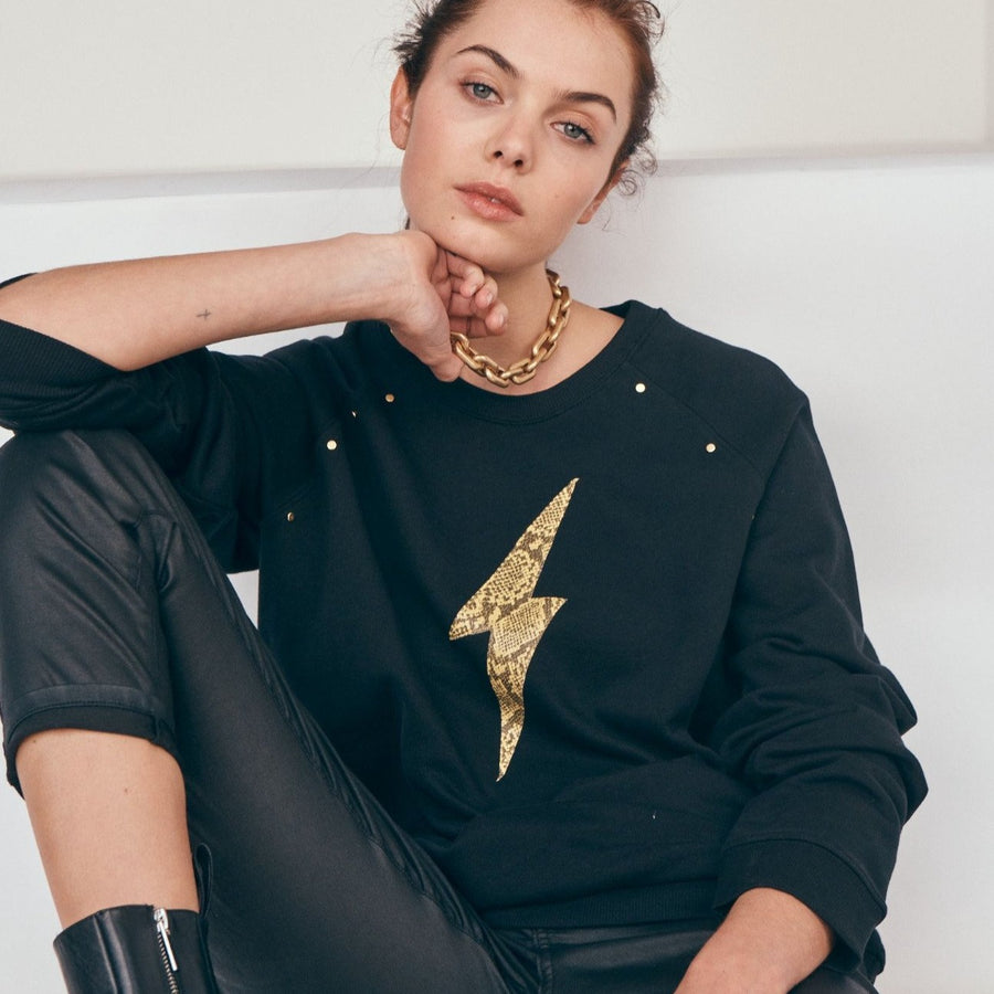 Elvie & Leo The Studded Diana Sweat