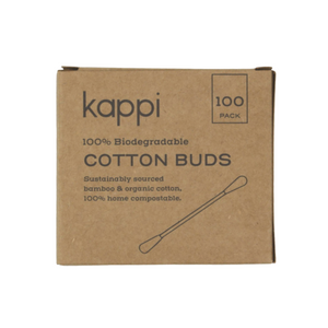 Kappi Biodegradable Organic Cotton Earbuds (100-Pack)