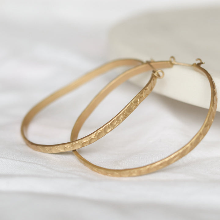 Finders and Makers Fusion Panache Statement Hoop Earrings