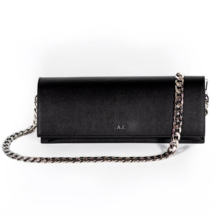 Monica Pencil Clutch - Cactus Leather Black
