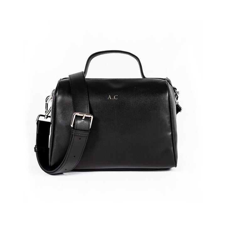 Florence Doctor Bag - Cactus Leather Black - Vegan Accessories