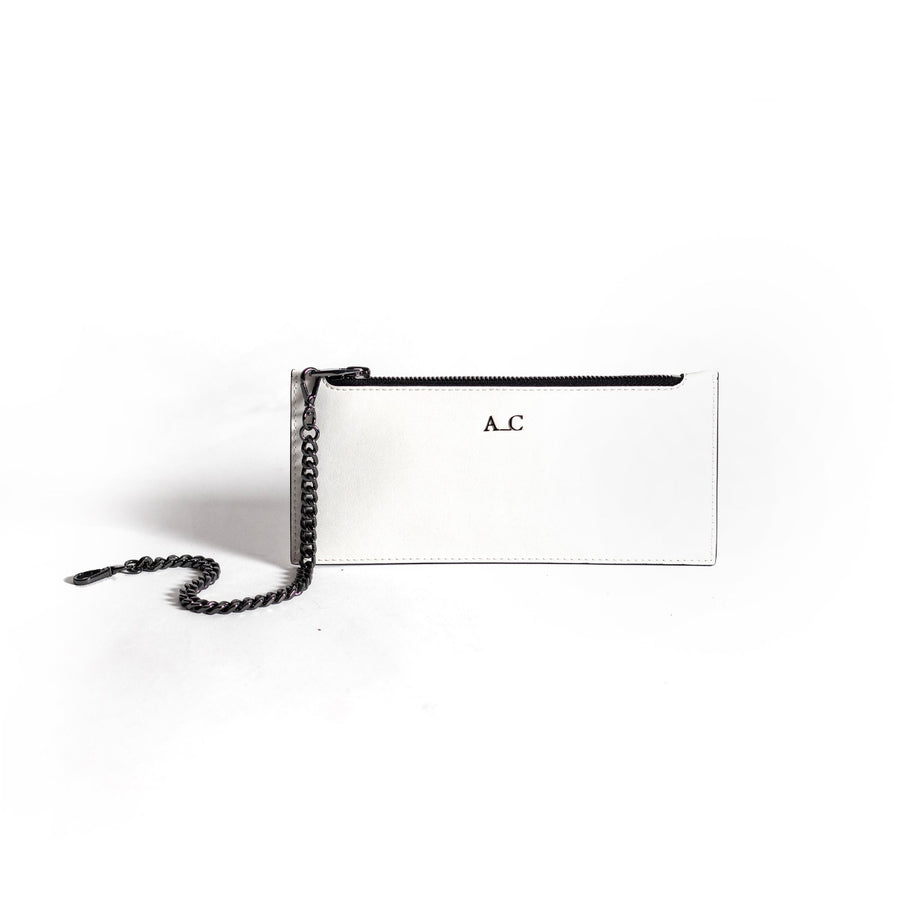 Heidi Slimline Wallet - Cactus Leather White - Cruelty-Free Accessories