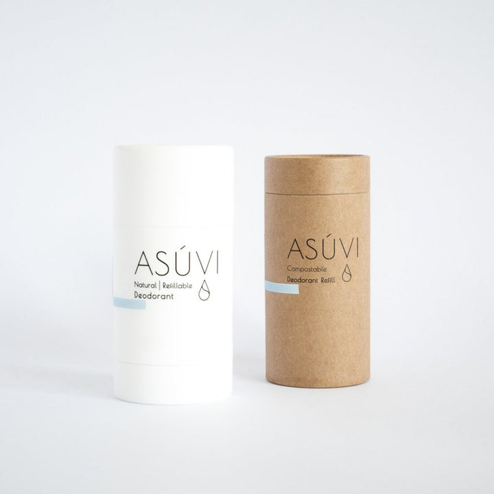 Asuvi Aqua and Earth Natural Deodorant + Biodegradable Refill