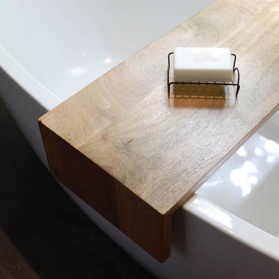 Mango Wood Contemporary Bath Tray by The Wood People
