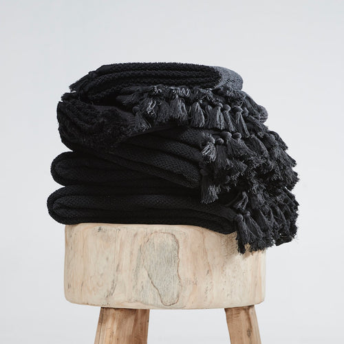 Cloth & Co Ethical Organic Cotton Bath Towels - Black
