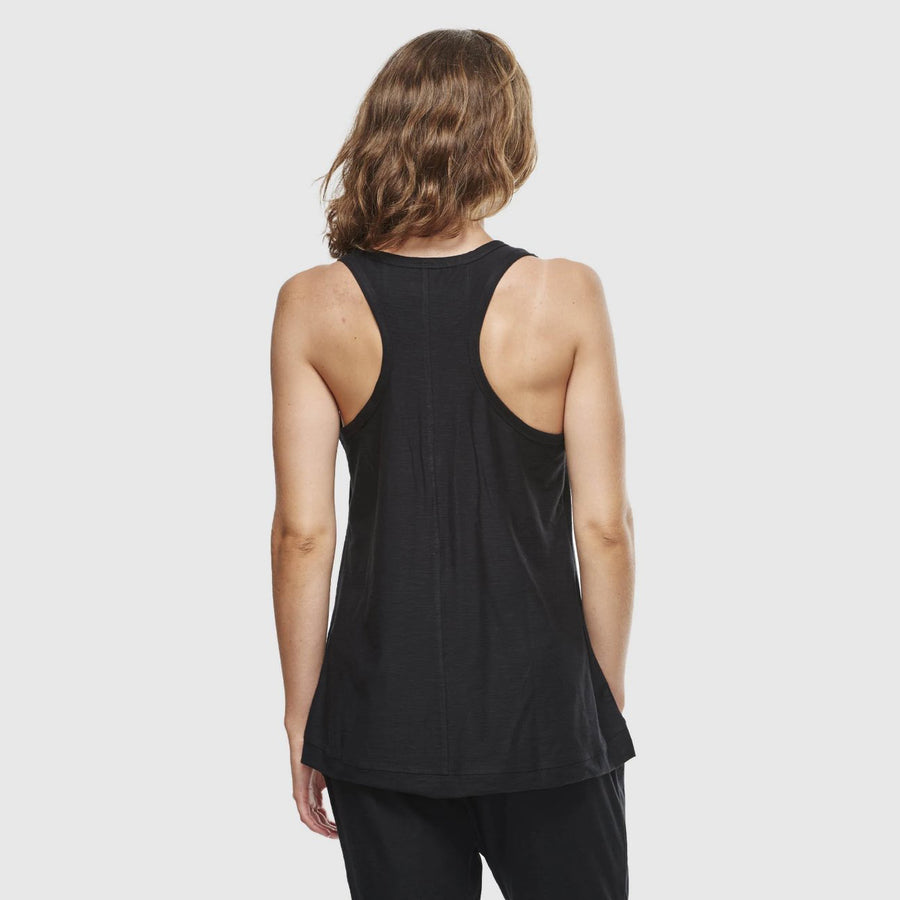 Organic Cotton Slub Singlet - Black