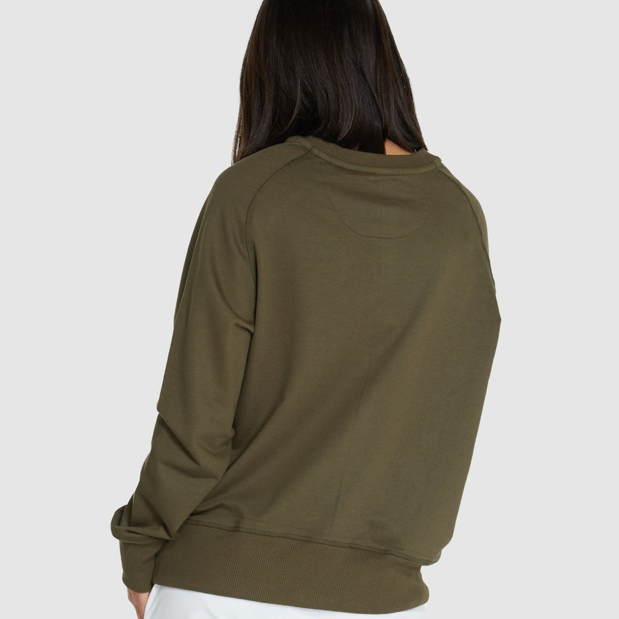 Raglan Terry Sweat - Olive