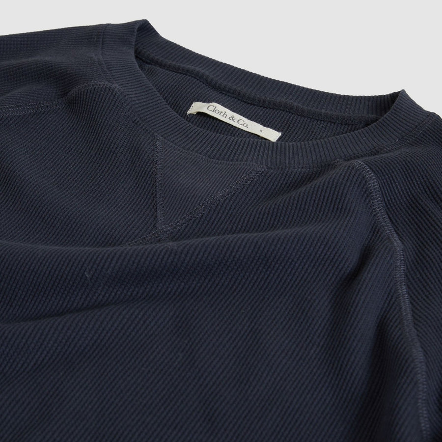 Cloth & Co. Raglan Waffle Sweat | Graphite