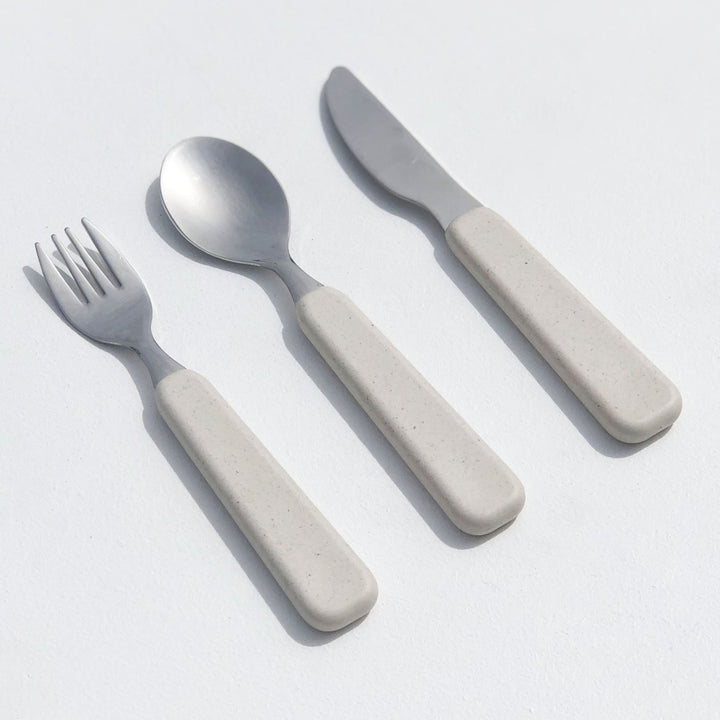 Children's plastic-free cutlery set