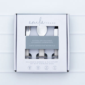 Children's Plastic-Free Cutlery Set - Sand